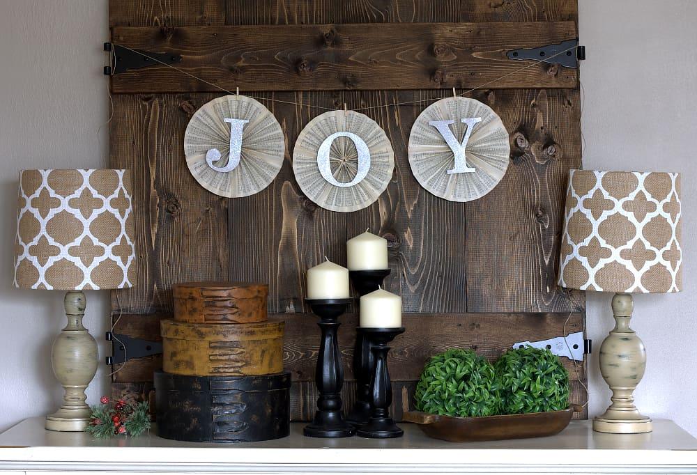 joy pinwheel banner