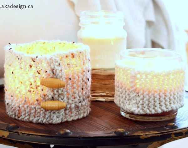Knit Candle Cozies – Make Your Own or To Give as Gifts