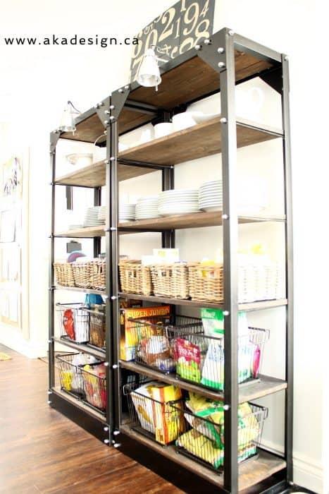 industrial shelves pantry