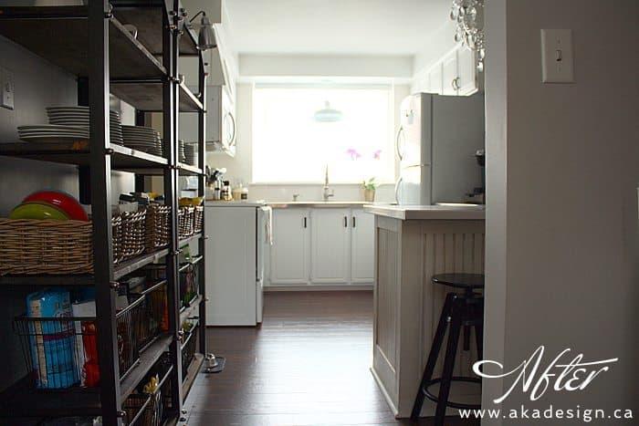 kitchen from side door