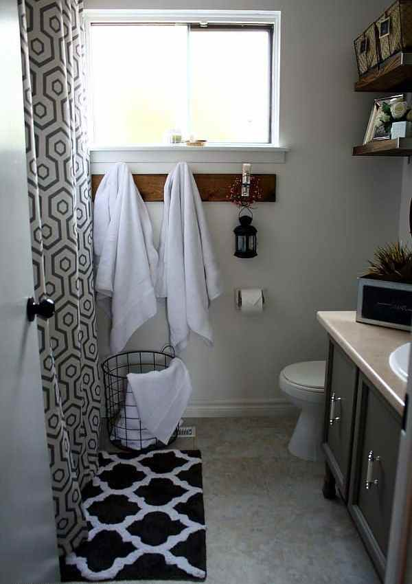 Vintage Industrial Glam Bathroom Reveal