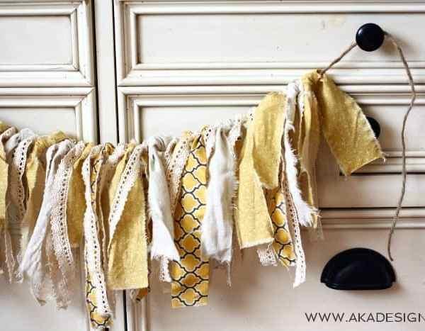 Scrap Fabric Rag Bunting | Trash to Treasure