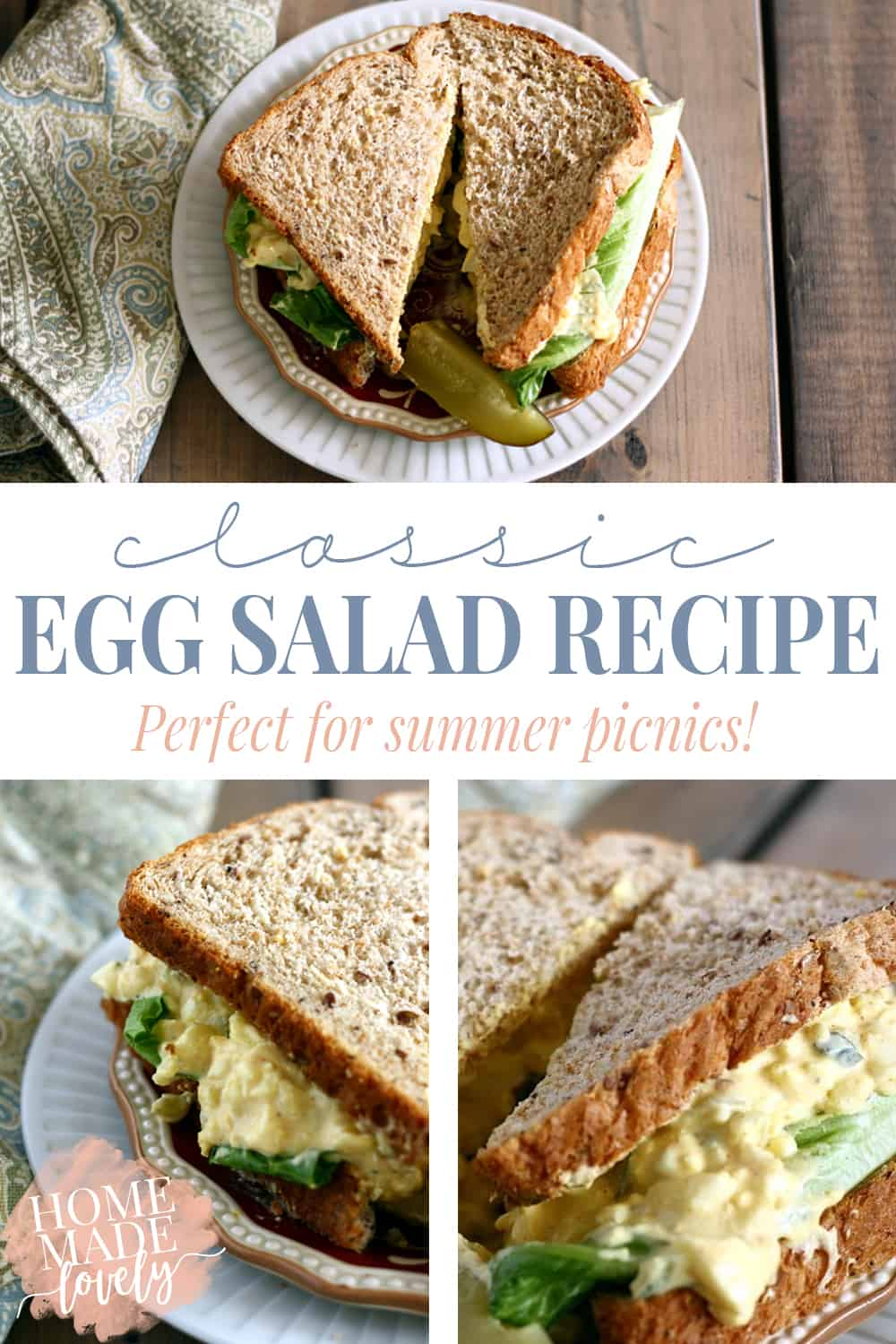 Perfect for summer picnics or family reunion pot luck lunches, this classic egg salad recipe will have you drooling for more!