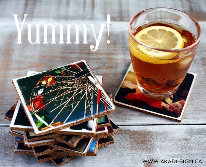photograph coasters | www.akadesign.ca