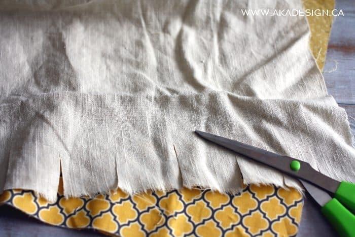 rag bunting step 1 cut