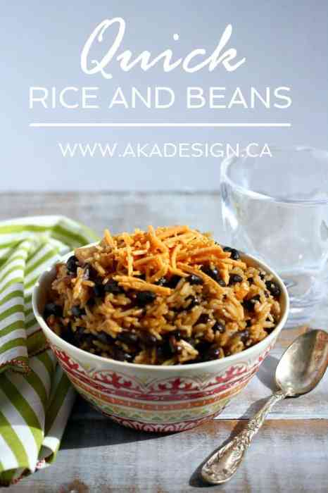 quick rice and beans | www.akadesign.ca
