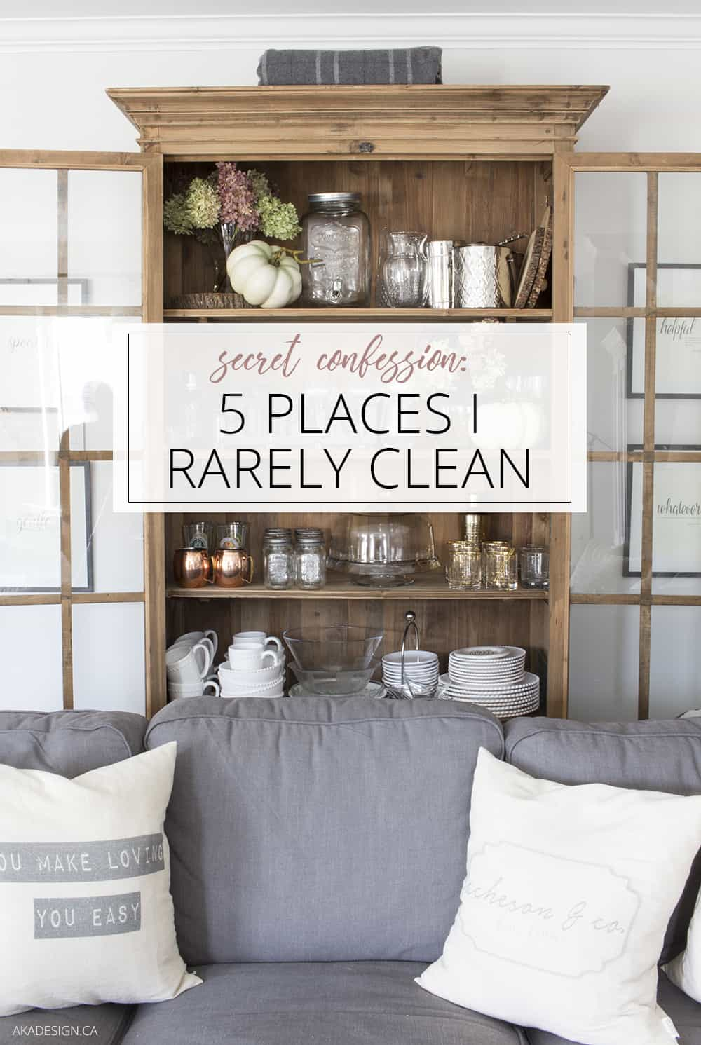5 places I rarely clean