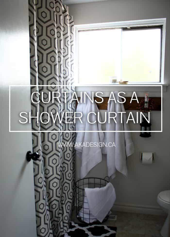 curtains as a shower curtain