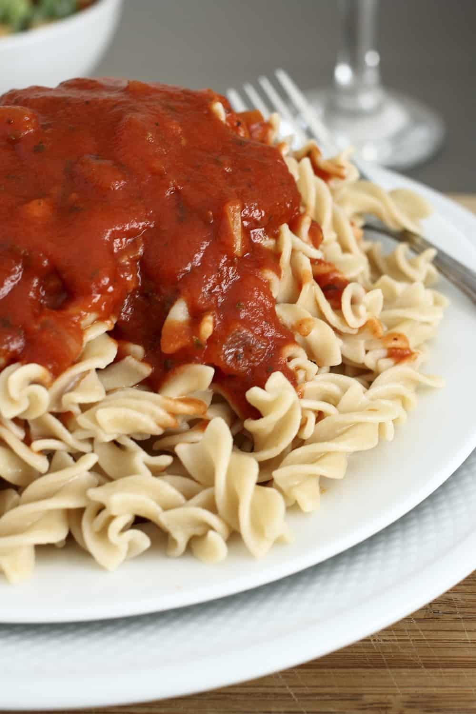 halfway homemade spaghetti sauce