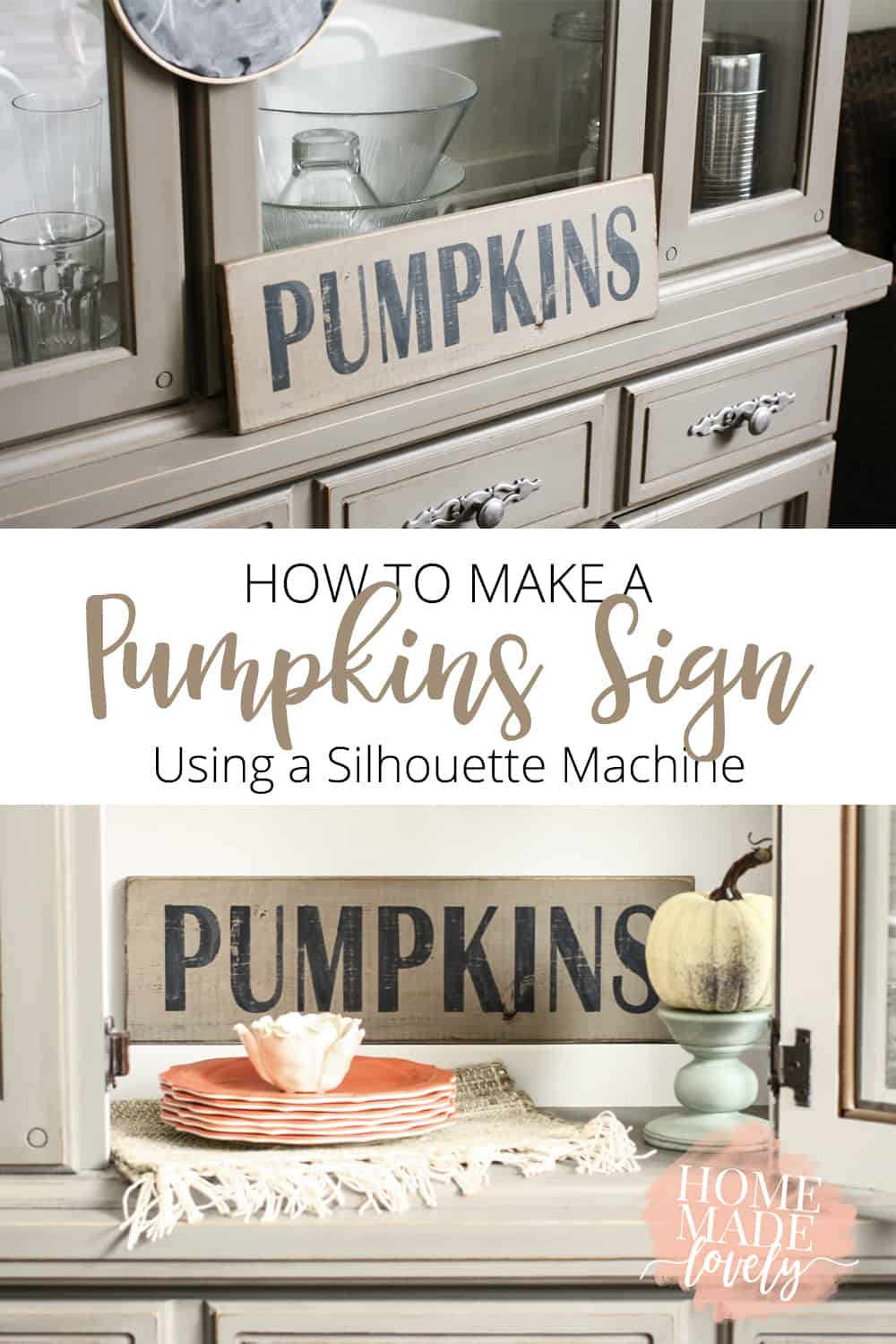 how to make a pumpkins sign silhouette machine pin