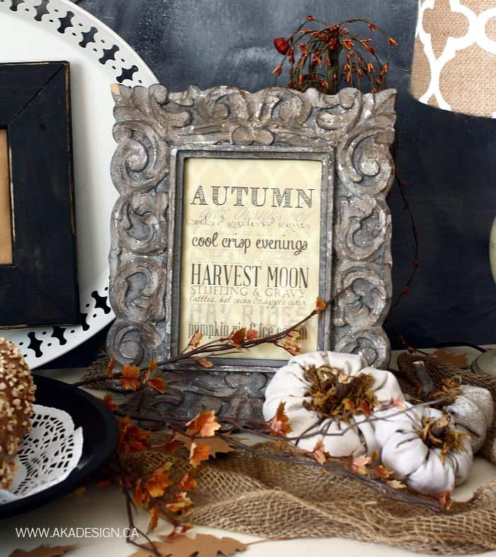 Home Made Lovely fall 2014 vignette and printable