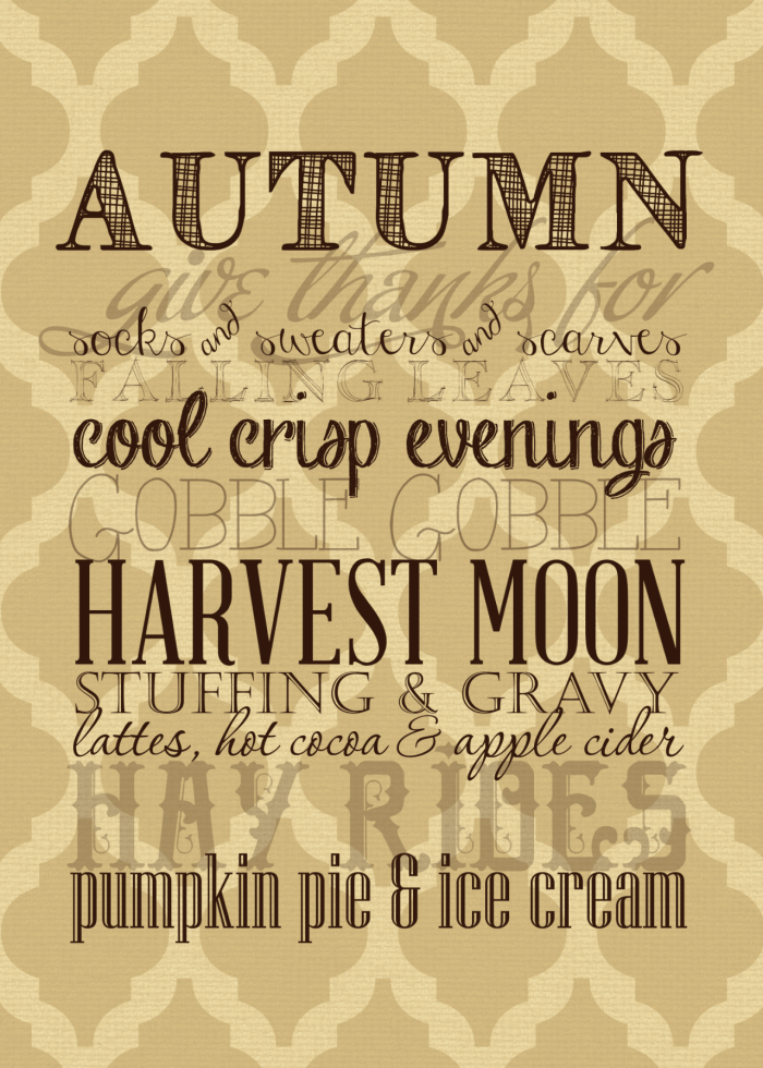 Home Made Lovely fall printable 2 2014