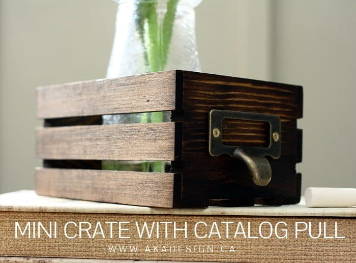 MINI CRATE WITH CATALOG PULL