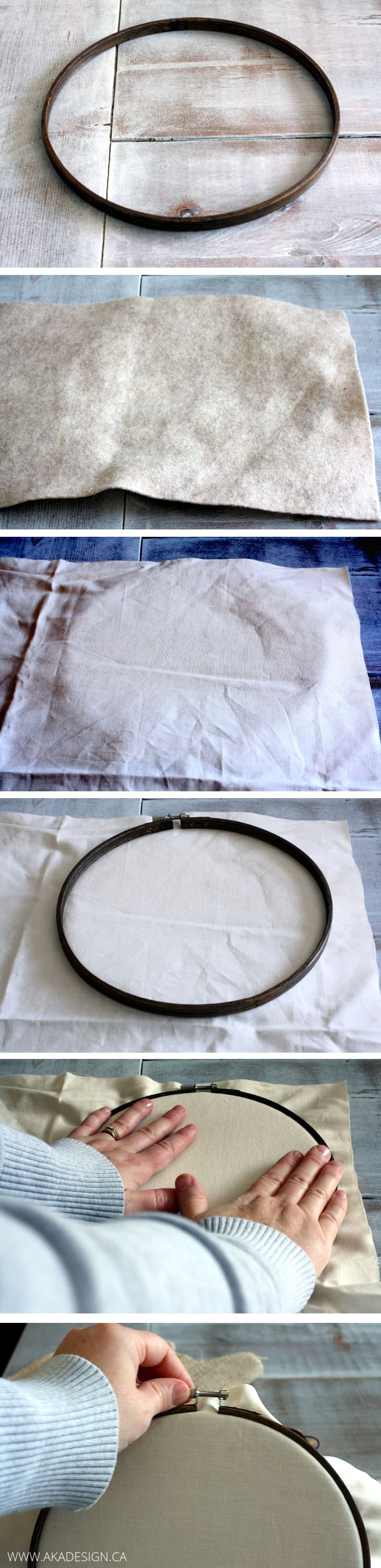 embroidery hoop assembly