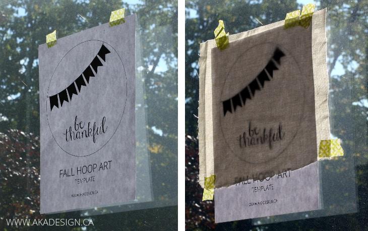 hoop art template on window