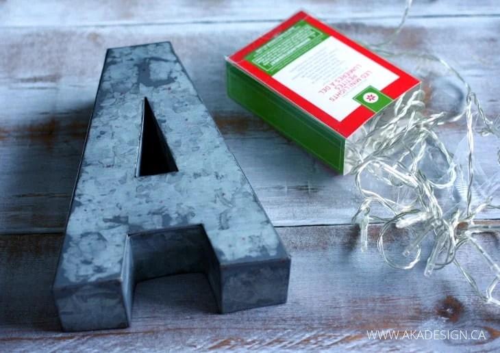 mini marquee letter diy supplies