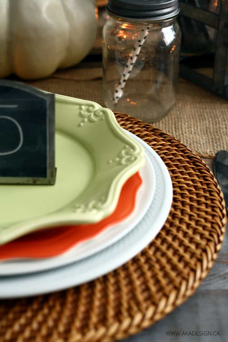 rustic charger placemat