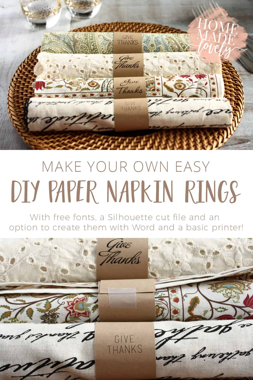 diy paper napkin rings pin