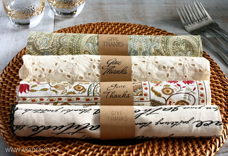 picture regarding Printable Napkin Rings Template identify Simple Do-it-yourself Paper Napkin Rings with No cost Fonts Lower History!