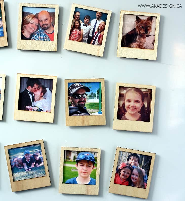wood Polaroid photo frames