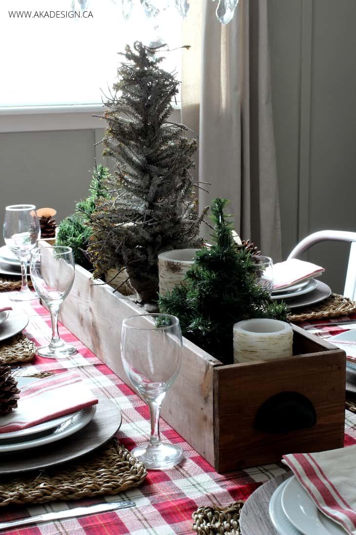 Woodland Christmas Table Centerpiece BLOG size