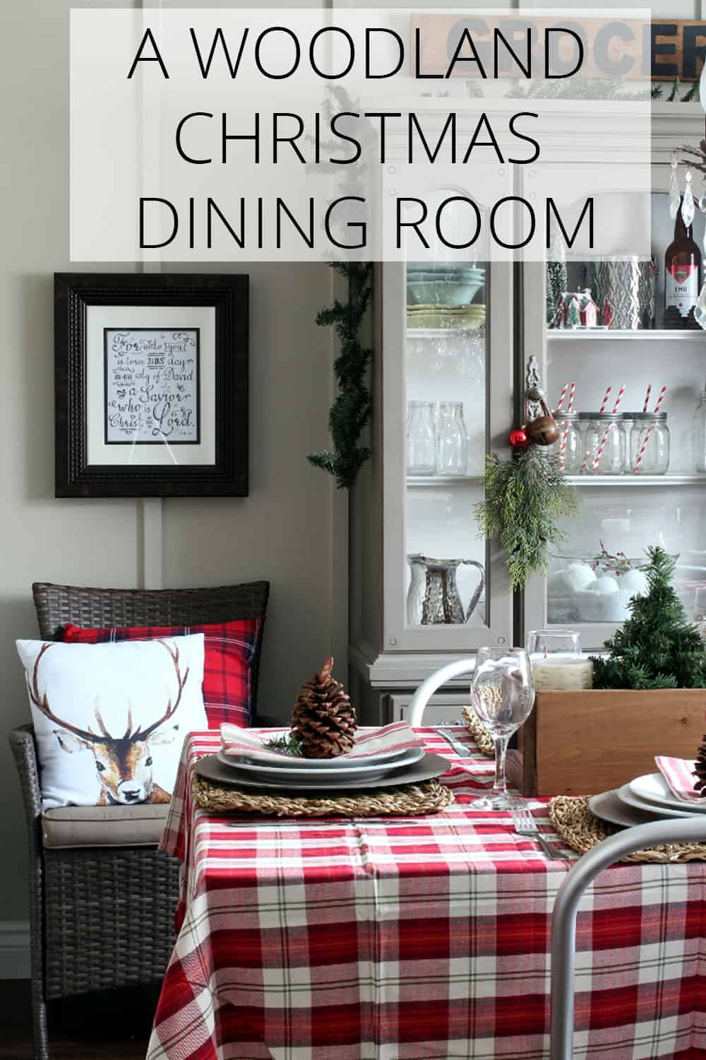 a woodland christmas dining room