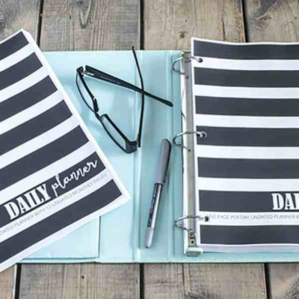 free printable daily planner