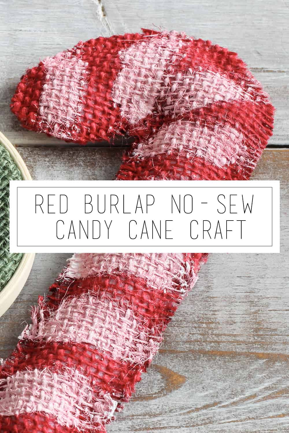 Red Burlap No Sew Candy Cane Craft Bowl Fillers Or Ornaments