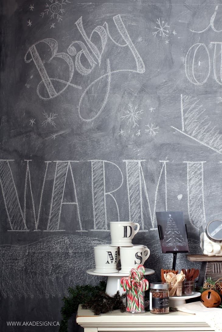 WINTER CHALKBOARD WALL