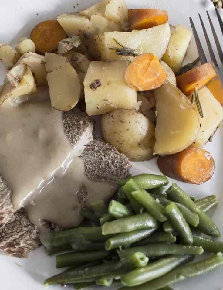 Slow Cooker Roast Beef Dinner - Using Frozen Roast Beef!