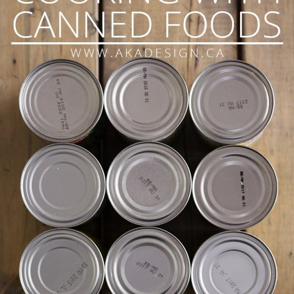 COOKING WITH CANNED FOODS