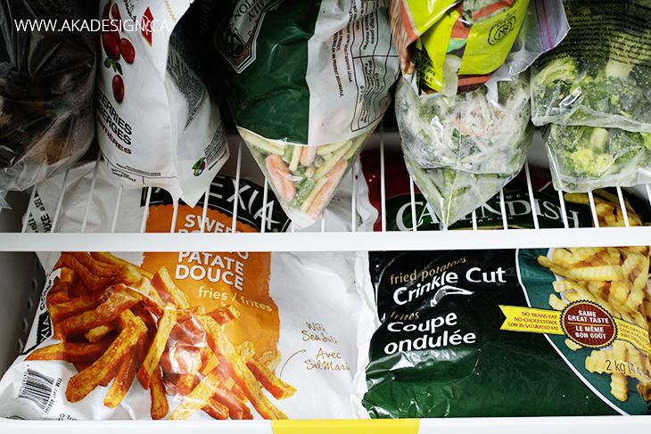 Frozen vegetables - stock the freezer