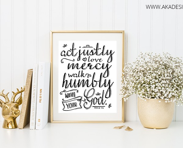 act justly love mercy walk humbly printable