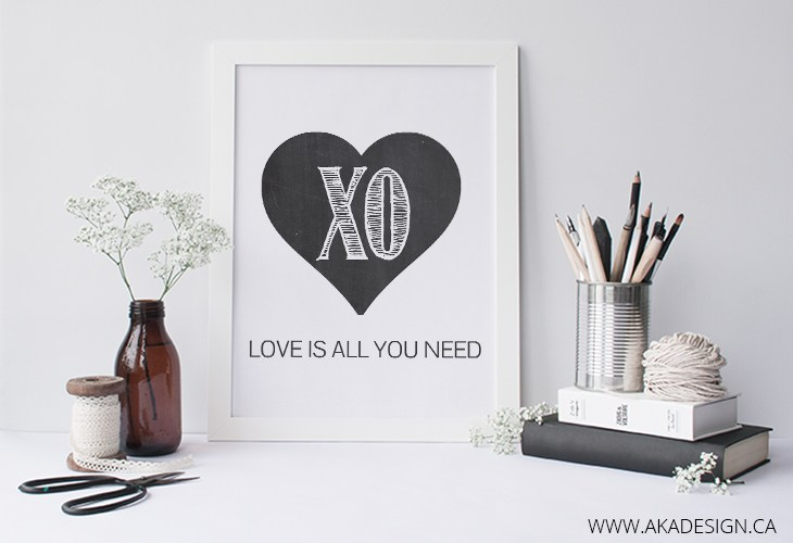 love is all you need printable framed