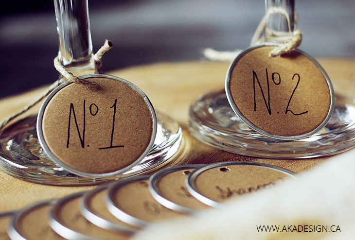 number 1 and number 2 wine glass charms
