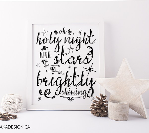 Oh Holy Night Printable Art