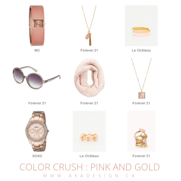 pink and gold color crush