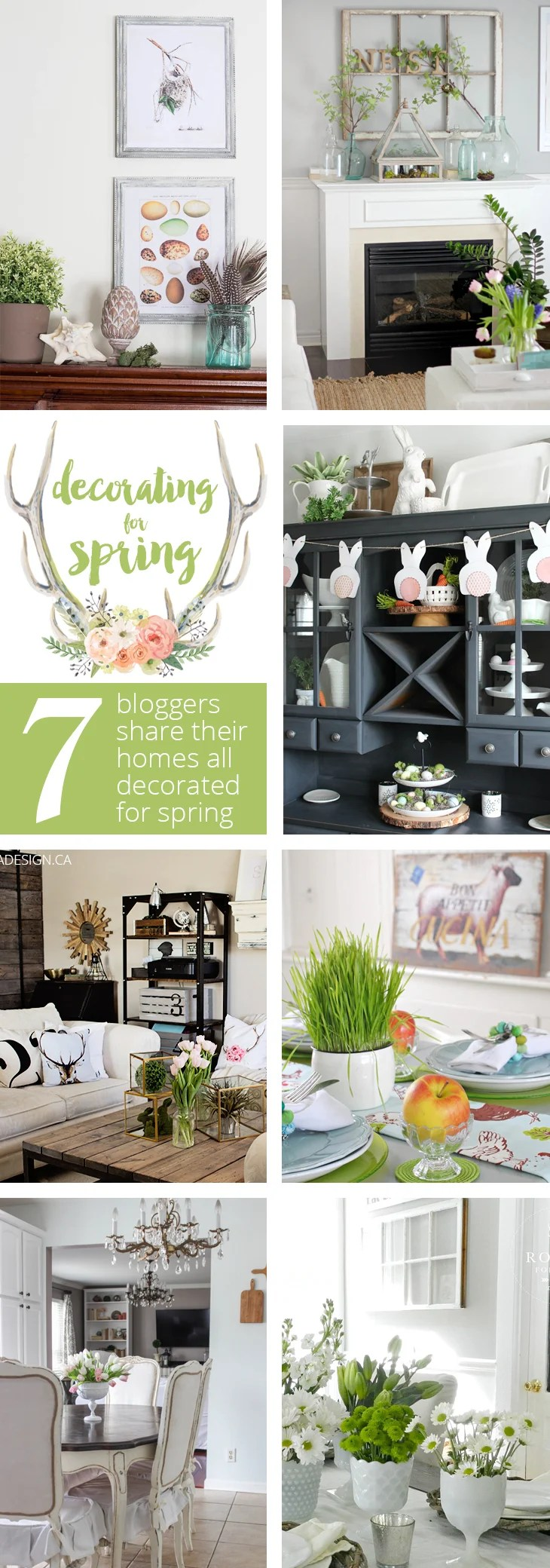 DECORATING FOR SPRING - 7 bloggers share their homes