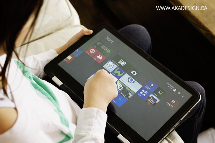 HP x360 Tablet Mode
