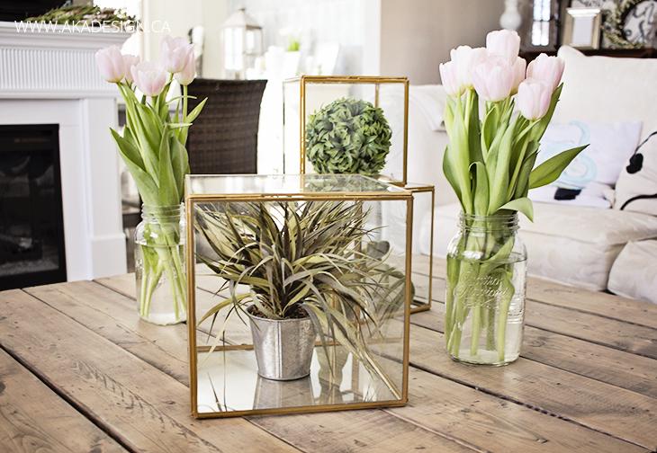 aka design coffee table birch lane glass boxes
