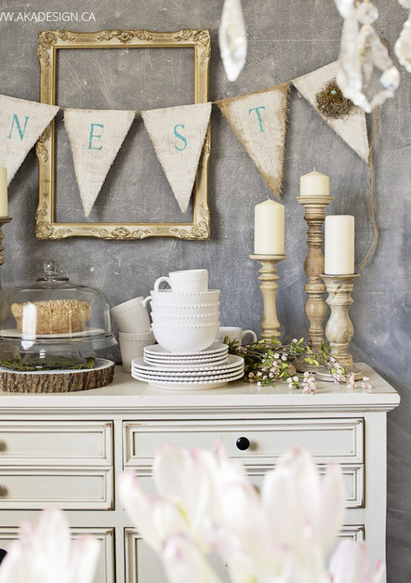 How to Make Burlap Bunting