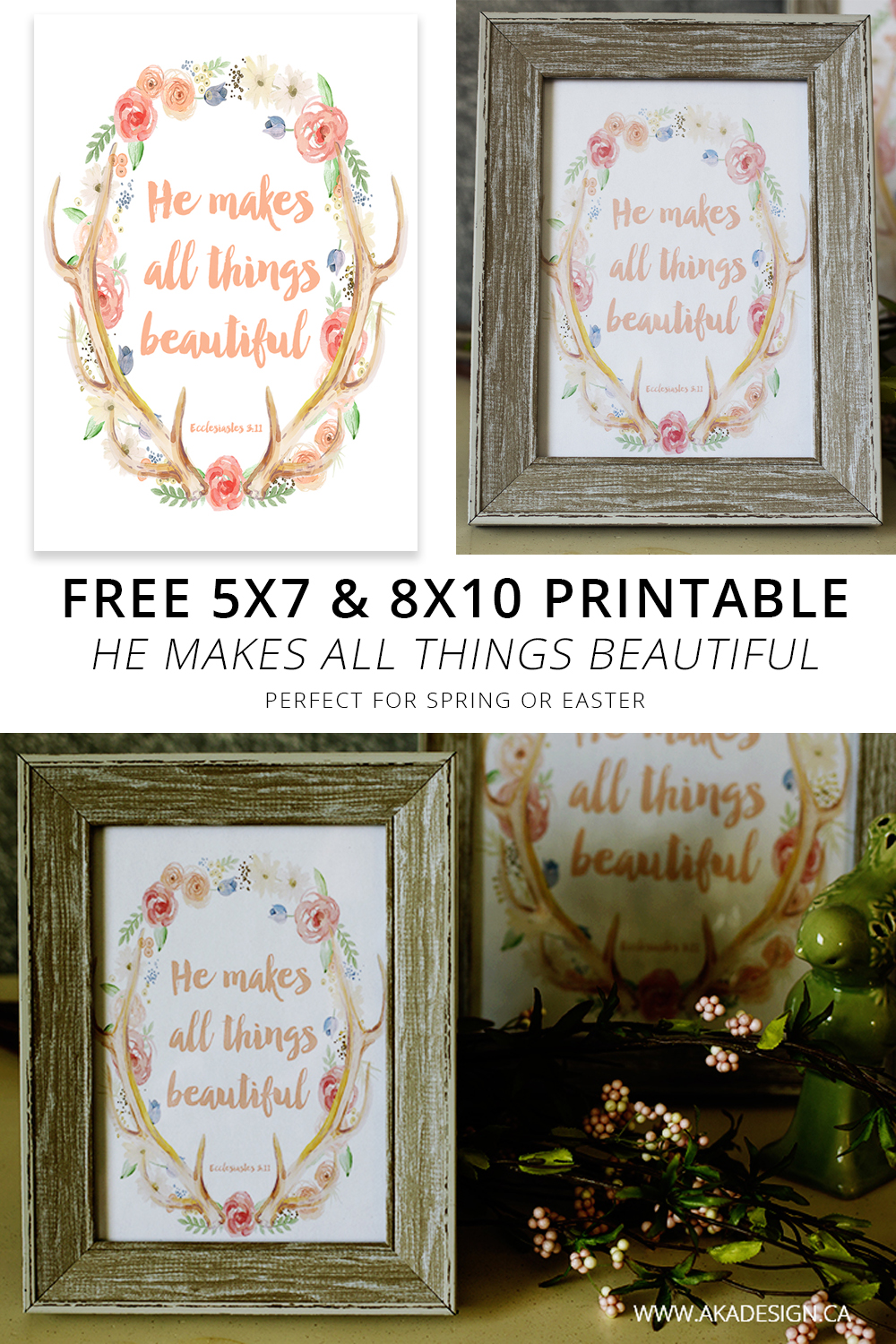 free printable spring easter he makes all thing beautiful