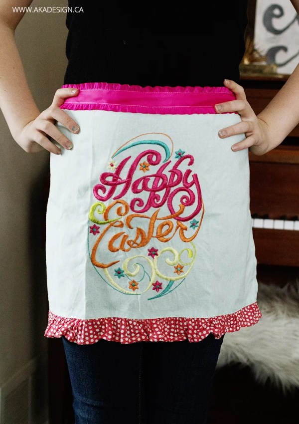 Make an Apron from a Tea Towel – With Sew and No-Sew Options