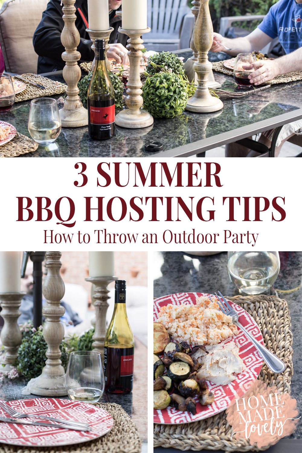 Summer is BBQ season and with that here are 3 Summer BBQ Hosting Tips and How to Throw an Outdoor Party!