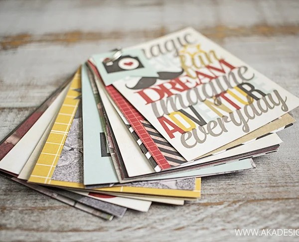 Make Mini Photo Albums from Project Life Cards