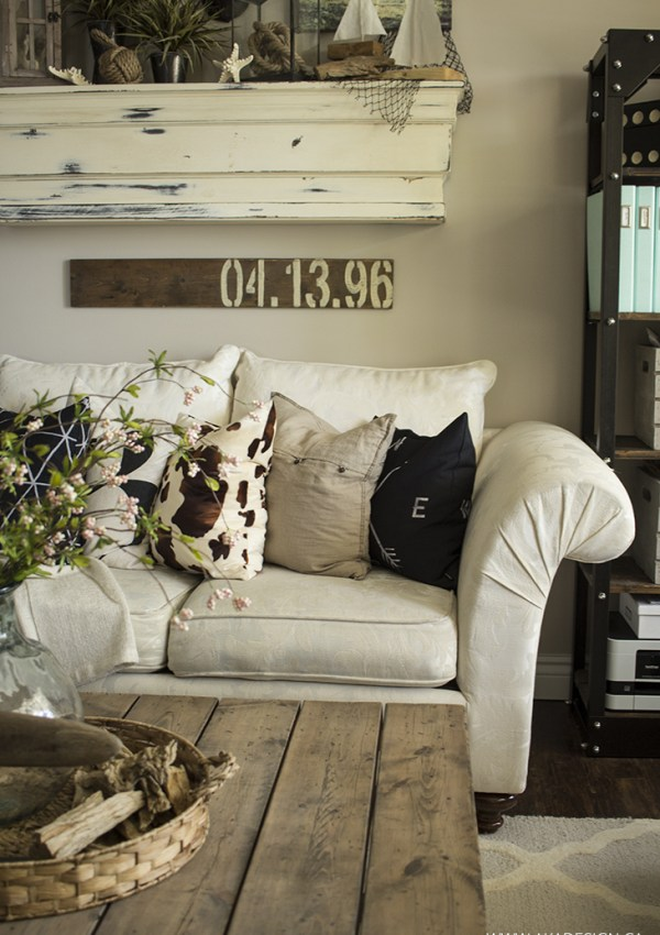 Throw Pillows in the Living Room