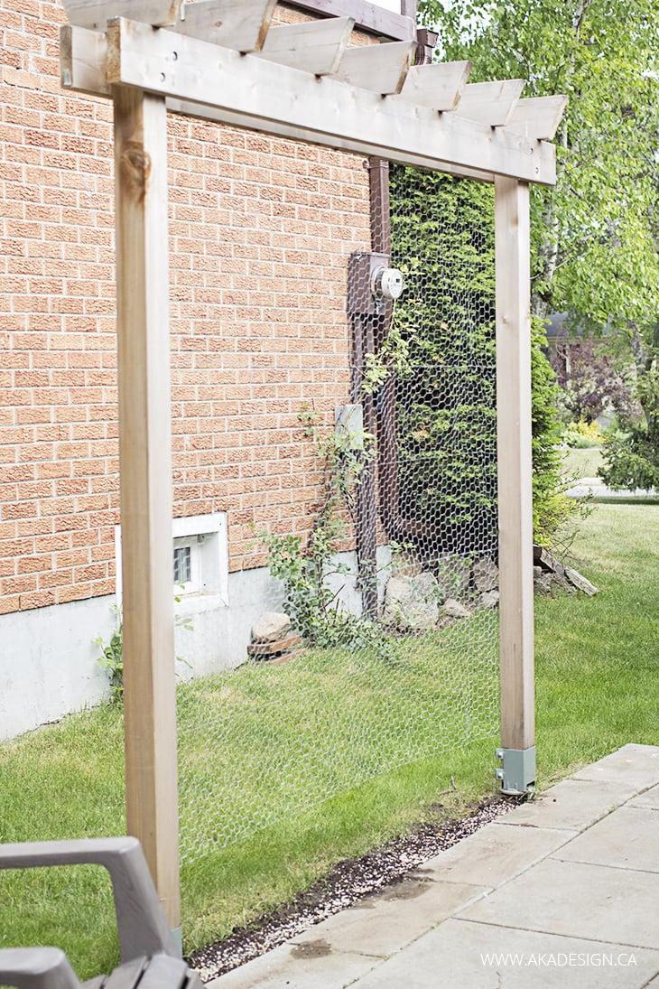 vertical garden trellis