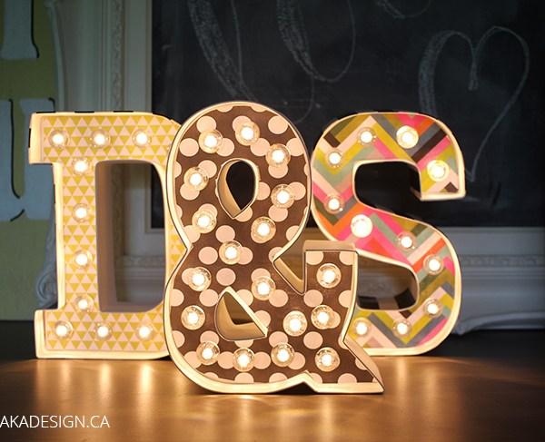Heidi Swapp Marquee Letters Lights On
