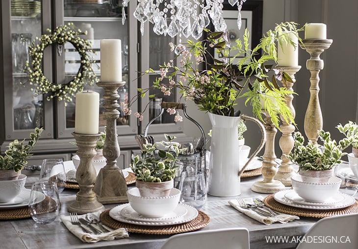 natural table setting