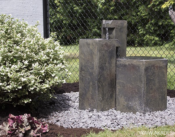 Aquascapes Formal Basalt Columns Fountain